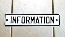 Vintage Metal Sign Information Desk Booth Phone Company Reception Welcome Area