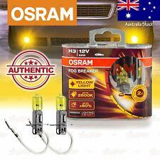 2x H3 453 OSRAM Fog Breaker DuoBox YELLOW Spot Bulbs 2600K Lamps for FRONT FOG