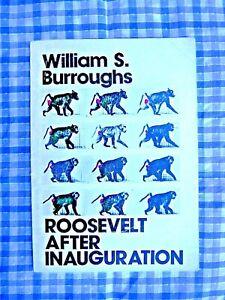VINTAGE ROOSEVELT AFTER INAUGURATION WILLIAM S.BURROUGHS - PAPERBACK