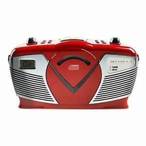 Sylvania Retro Style Portable CD Boombox with AM/FM Radio- Top Loading CD - A...
