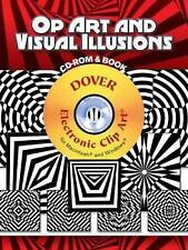 Op Art and Visual Illusions (Dover Electronic Clip Art), 0486998916, New Book