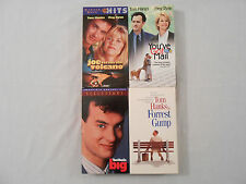 TOM HANKS: 4 Movies on 4 VHS Tapes Original Collectible
