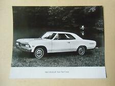 photo de presse originale  CHEVROLET CHEVELLE super sport coupé  1966