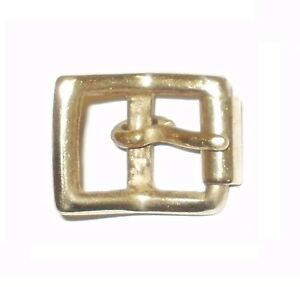 """SOLID BRASS FULL ROLLER MILITARY STYLE BELT STRAP BUCKLE 1/2"""" - 12MM"""