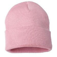 Pink Watch Stocking Cap Beanie Winter Stocking Hat Knit Cold Weather