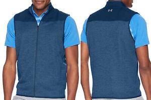 Under Armour UA Golf Sweaterfleece Full Zip Sleeveless Vest Gillet - XL & XXL