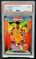 2019 Prizm RED REFRACTOR Grizzlies JA MORANT Rookie Basketball Card PSA 9 MINT