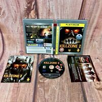 Killzone 2 Platinum Edition Sony PlayStation PS3 Game Complete with Manual vgc