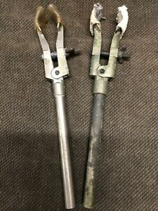 """2 each 8.5"""" Lab Glass Clamps. test tube clamp"""