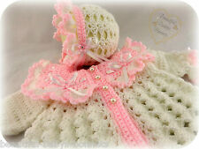 CROCHET PATTERN by Beautiful-Babys-Bonnets for a Girls Matinee Coat & Bonnet #51