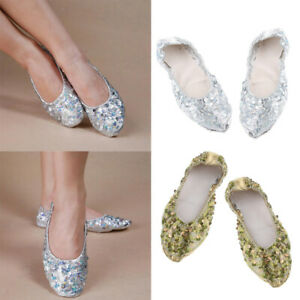 Professional Belly Dance Shoes Foldable Dance Performance Shoes Slip-resistant
