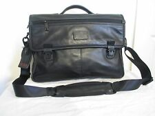 NEW TUMI ALPHA SLIM FLAP BLACK NAPPA LEATHER BRIEFCASE