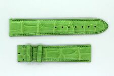 CARTIER Alligator Watch Brand Strap Light Green 20mm BRAND NEW
