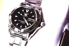 EXCELENTE WATCH RELOJ  SEIKO  5 SPORTS AUTOMATICO WATER 100 RESIST  MOTRE