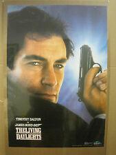 Vintage Timothy Dalton James Bond 007 1987 living daylights  Movie poster  3360