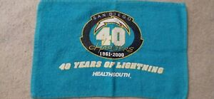 San Diego Chargers 40th Anniversary Rally Towel Stadium Give A Way HealthSouth
