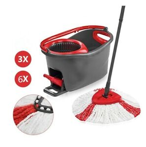 Spin Mop Clean Refill Head Microfiber 360°Household Cleaning