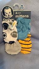 4 Pack Baby Mittens Shades Of Boys Blue And Gray and  Girls