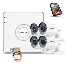 ANNKE 4CH POE 1080P NVR 1TB IP Network Outdoor CCTV 960P Security Camera System