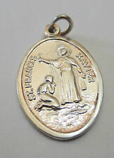 Sterling Silver 925 Charm Pendant - St Francis Xavier Prayer Focus - NEW