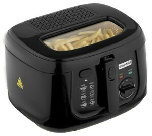 Emperial Deep Fat Fryer 2.5L Chip Non-Stick Pan & Safe Basket Handle With Window