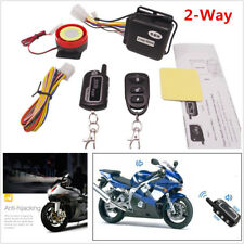 Motorcycle 2-Way Security Alarm System Anti-theft Remote Control Engine Start