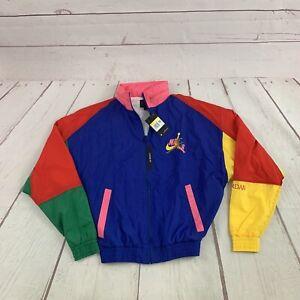 Nike Air Jordan Jumpman Classics Jacket Windbreaker Small Colorblock 90s Retro