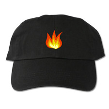 Fire Flame Black Dad Hat
