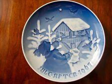 Bing and Grondahl Vintage Christmas Plates 1967, 1971, 1972, 1973 Perfect