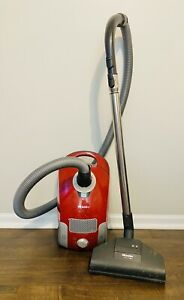 Red Miele S4210 Antares Canister Vacuum Cleaner Hose Power Head 200 Turbo Plus
