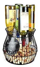 Wine Corks Saving Cage & Wine Bottle Holder Storage Organizer Kitchen Decor NEW