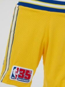 Mitchell & Ness Golden State Warriors 1980-81 35th Patch Authentic GOLD Shorts