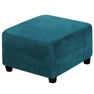 Elastic Velvet Stool Chair Cover Square Seat Home Washable Removeable Multicolor