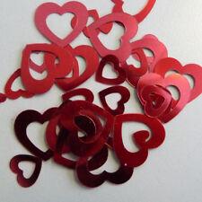 Tischdeko Streuartikel Streudeko Konfetti für Hochzeit Herz durchbrochen rot