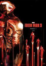 IRON MAN 3 2013 Midnight IMAX Exclusive Original Mini Movie Promo Poster
