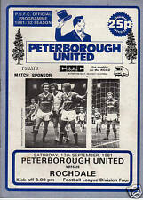 PETERBOROUGH UNITED v ROCHDALE. Division Four 1981/82