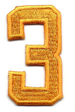 "NUMBERS-Golden Yellow Number ""3"" (1 7/8"") - Iron On Embroidered Applique/Numbers"