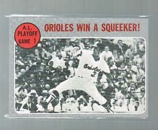 1970 topps A L Playoff Game 1 Orioles win a Squeeker #199 %@% set Break