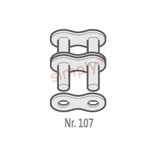 Renold BB 32B-2-NO107 BS Duplex Kette Außen Link To Be Genietetes 5.1cm Pitch