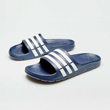 d026c54ce adidas Mens Duramo Slide Flip Flops Sliders Pool Beach Sandals Navy