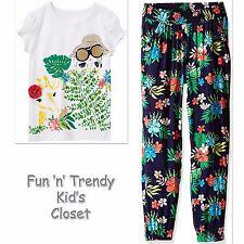 NWT Gymboree SUNNY SAFARI Girls Sz 5 Floral Soft Pants & Tee Shirt Top 2-PC SET