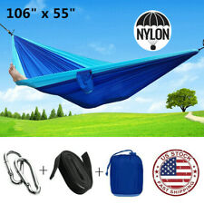 "106""x55"" Camping Hammock Outdoor Garden Portable Hanging Bed Swing Chair Seat"