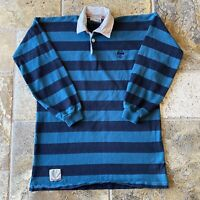 80s Canterbury B9 Series Australian Made Crest Striped Long Sleeve Rugby Jersey