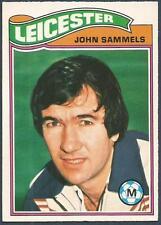 TOPPS 1978 FOOTBALLERS #048-LEICESTER CITY-JON SAMMELS