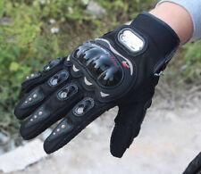 Fashion Rock Black Short Sports Leather Motorcycle Motorbike Summer Gloves L