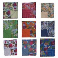 """Handmade Kantha Embroidery Double/King/Queen Throw Bedspread Blanket 90""""x108"""""""