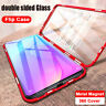 For Xiaomi Redmi Note 9S 7 8T 8 Pro Magnetic Metal Double Sides Glass Case Cover