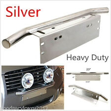 "23"" Bull Bar Silver Stainless Steel Car Offroad Mounting Headlamp Bracket Holder"
