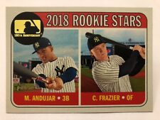 Miguel Andujar Clint Frazier 100th Anniversary Variation 2018 Topps Heritage
