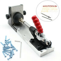 Pocket Hole Jig Joinery System Wood Work Kit+ Free Screws Drilling Bit Plug Tool